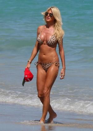 Victoria Silvstedt Bikini Photos: 2014 Miami -01