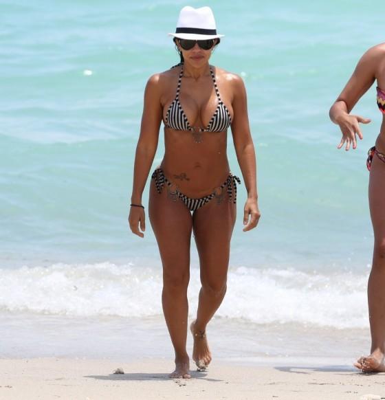 Vida Guerra in a Bikini on Miami Beach