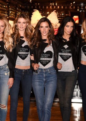 VS Angels - 2014 Victoria's Secret Fashion Show at Bond Street Media Event in London