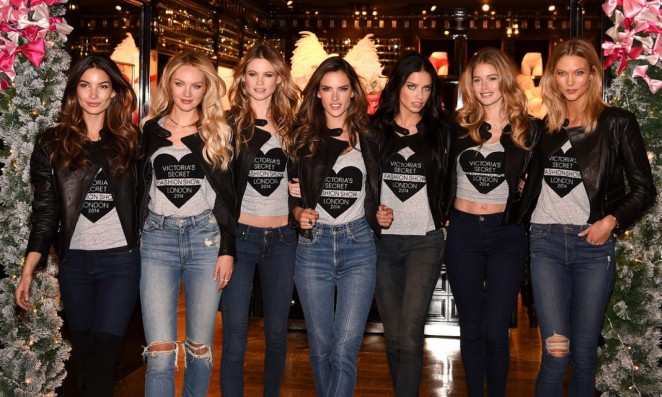 VS Angels – 2014 Victoria's Secret Fashion Show at Bond Street Media Event in London