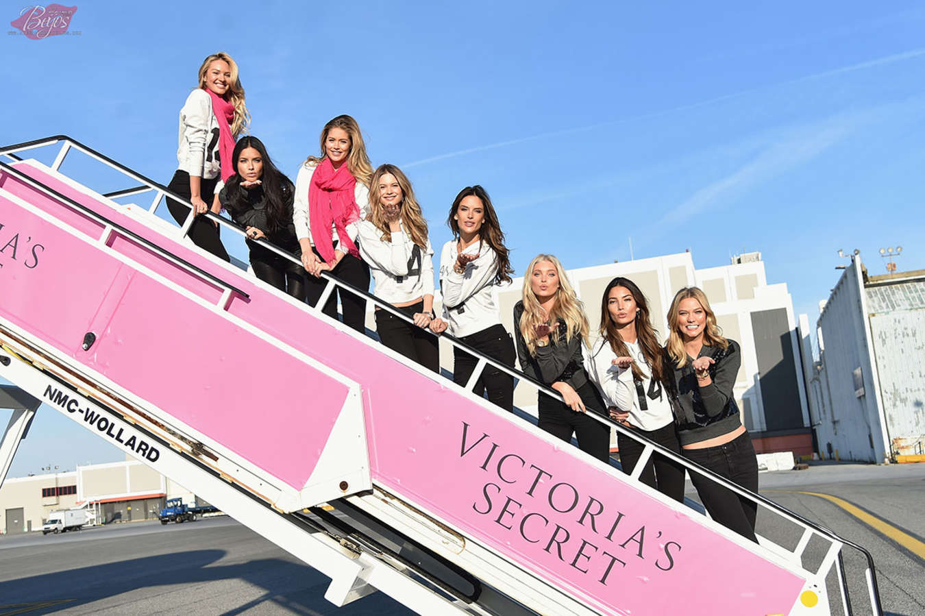 VS Angels - Departing For the London For 2014 Victoria's Secret Fashion Show