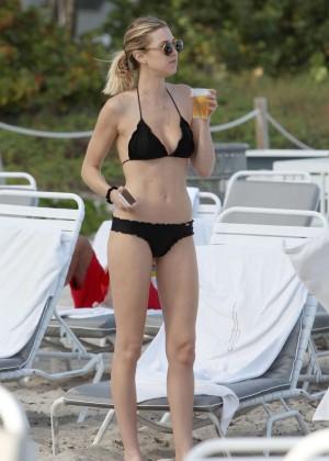 Whitney Port in Black Bikini In Miami