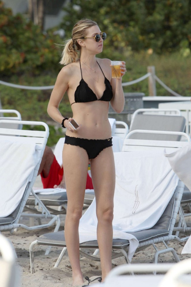 Whitney Port in Black Bikini In Miami