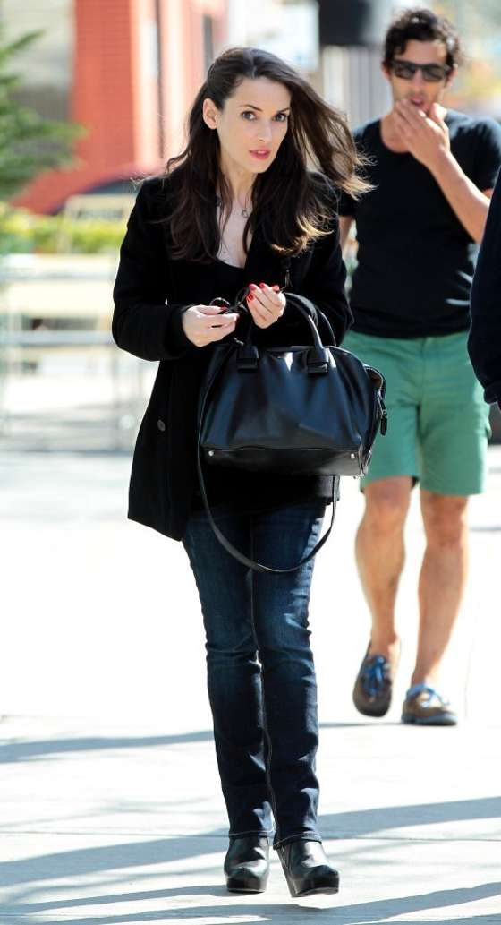 Winona Ryder out in NYC -08