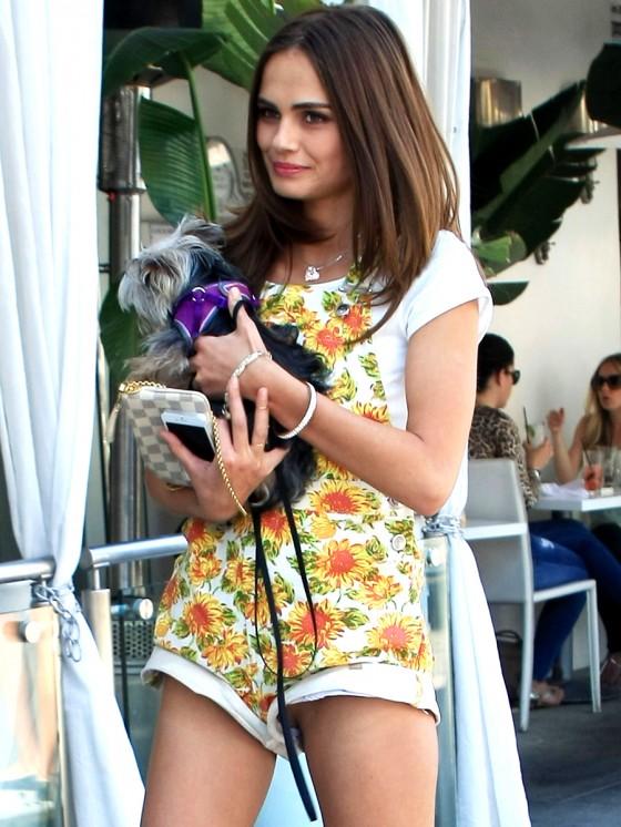 xenia deli walking her dog in la 06 gotceleb