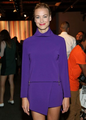 Yvonne Strahovski - ICB Fashion Show in NY