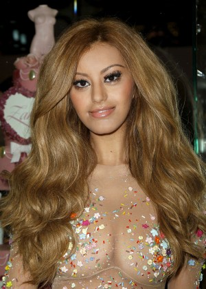 Zahia Dehar at her store opening in Paris -05