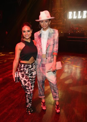 Zendaya Coleman and Pia Toscano at 2014 ELLE Women In Music Celebration -03