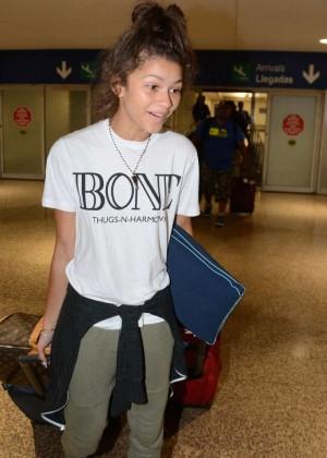 Zendaya Coleman arriving to the airport in Puerto Rico