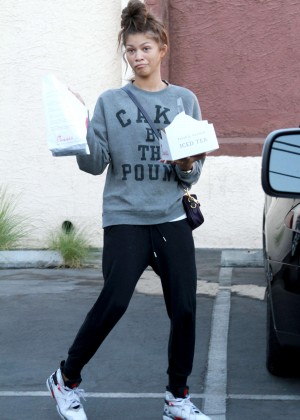 Zendaya Coleman at Dancing With The Stars Rehearsal in Los Angeles