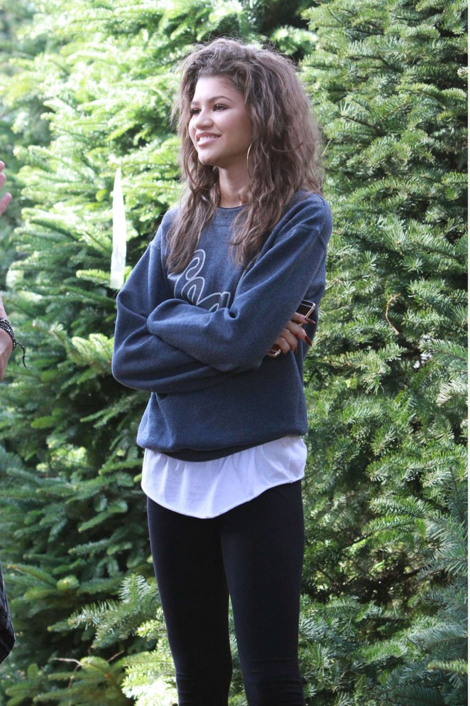 Zendaya Coleman - Buys a Christmas Tree in Los Angeles