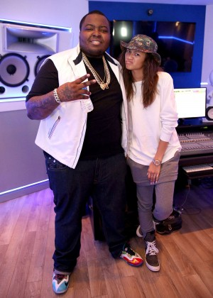 Zendaya with Sean Kingston at Recording Studio in LA
