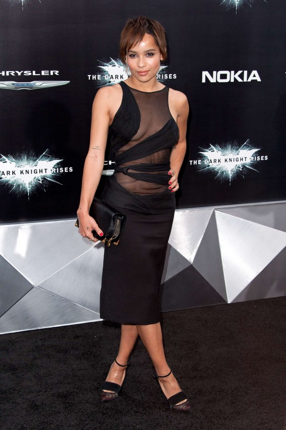 Zoe Kravitz – at The Dark Knight Rises premiere-01
