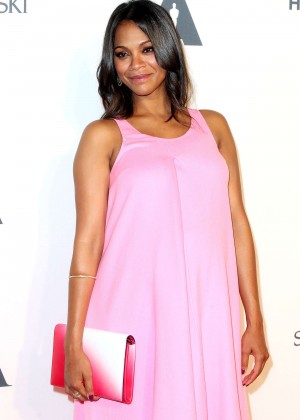 Zoe Saldana - AMPAS Hollywood Costume Opening Party in LA