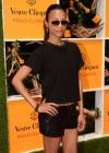 Zoe Saldana in a hot leather shorts at 2012 Veuve Clicquot Polo Classic, Jersey City