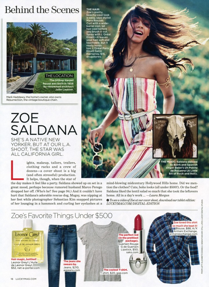 Zoe Saldana: Lucky US -05