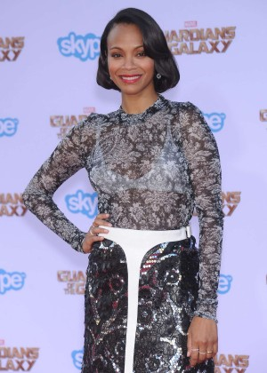 Zoe Saldana - Premiere Of Marvel's 'Guardians Of The Galaxy' in Hollywood