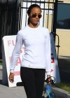 Zoe Saldana Wearing Spandex at a gym in West Hollywod