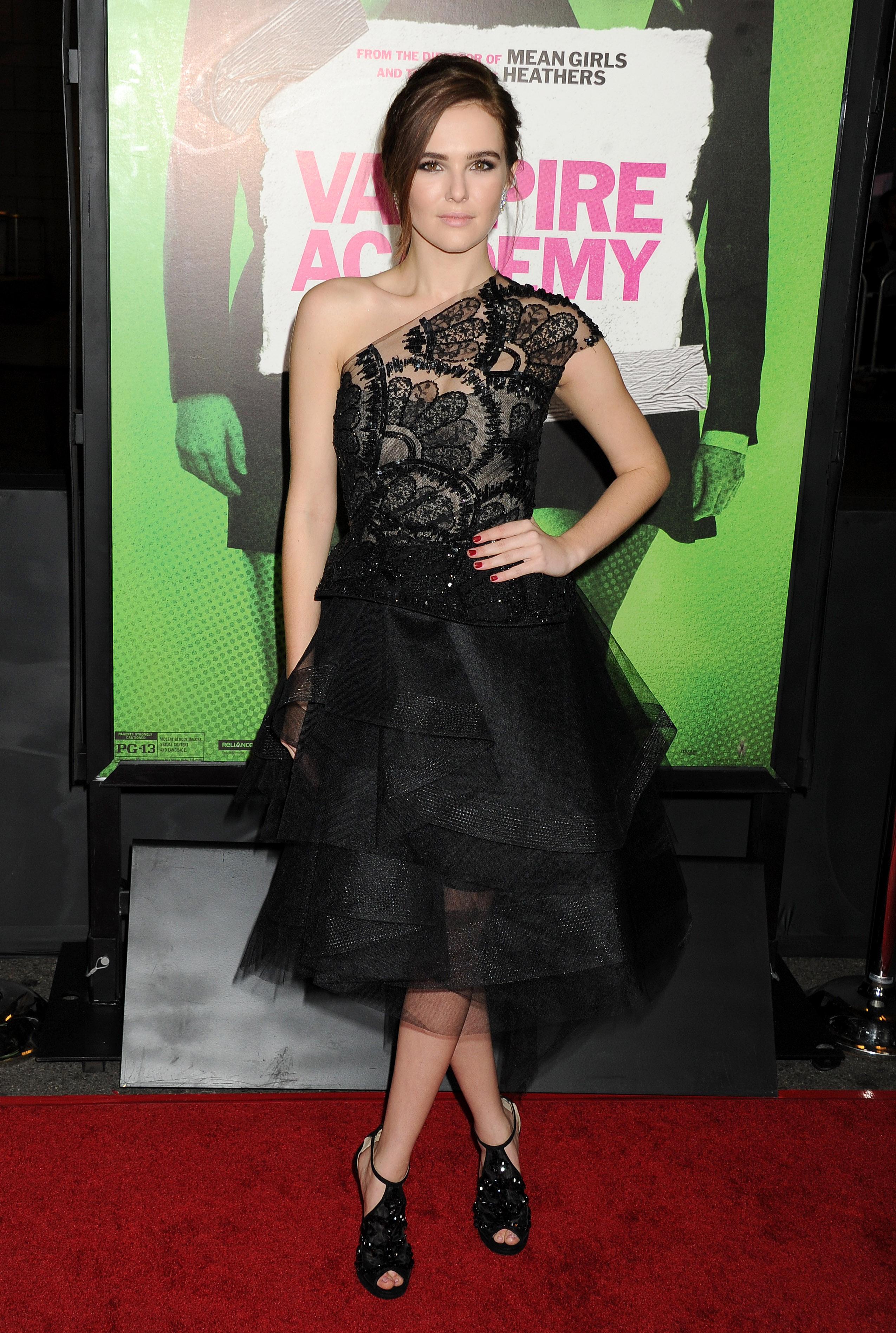 Zoey Deutch 2014 : Zoey Deutch: Vampire Academy Premiere  -01