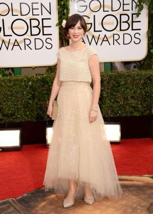 Zooey Deschanel: Golden Globe 2014 Awards -05