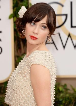 Zooey Deschanel: Golden Globe 2014 Awards -06