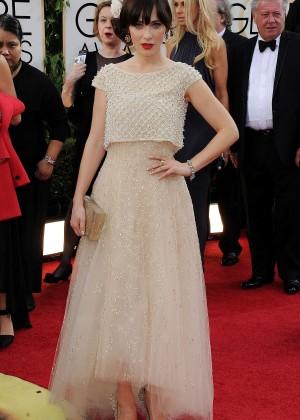 Zooey Deschanel: Golden Globe 2014 Awards -10