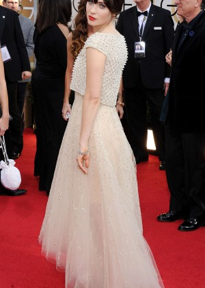 Zooey Deschanel: Golden Globe 2014 Awards -11