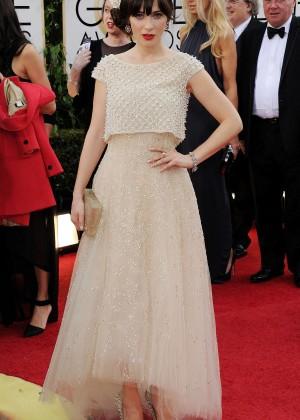 Zooey Deschanel: Golden Globe 2014 Awards -13