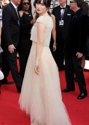 Zooey Deschanel: Golden Globe 2014 Awards -14