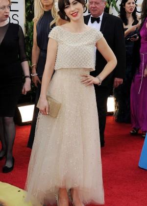 Zooey Deschanel: Golden Globe 2014 Awards -17