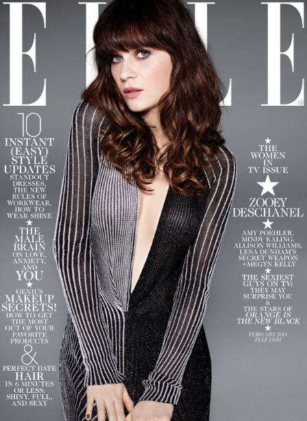 Zooey Deschanel – Elle Magazine US (February 2014) -02