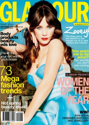 Zooey Deschanel - Glamour South Africa Magazine (September 2014)