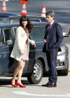 Zooey Deschanel - Leggy in short dress on the set of New Girl-01