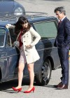Zooey Deschanel - Leggy in short dress on the set of New Girl-02