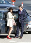 Zooey Deschanel - Leggy in short dress on the set of New Girl-04