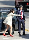 Zooey Deschanel - Leggy in short dress on the set of New Girl-05