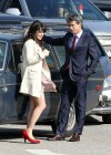 Zooey Deschanel - Leggy in short dress on the set of New Girl-06