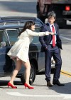 Zooey Deschanel - Leggy in short dress on the set of New Girl-08