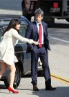 Zooey Deschanel - Leggy in short dress on the set of New Girl-09