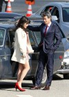 Zooey Deschanel - Leggy in short dress on the set of New Girl-11