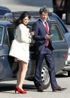 Zooey Deschanel - Leggy in short dress on the set of New Girl-12