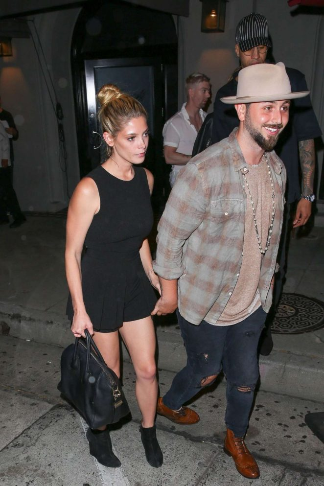 Aashley Greene and Paul Khoury - Leaves Craig's Restaurant in West Hollywood