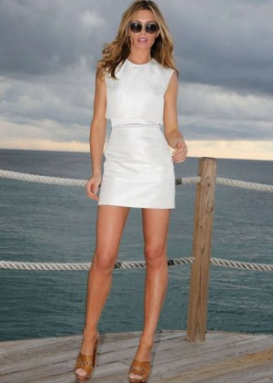 Abbey Clancy at a modelling competition in Jamaica