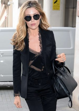 Abbey Clancy at Radio One Studios in London