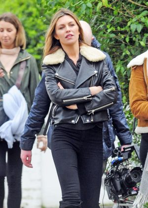 Abbey Clancy Filming in Notting Hill