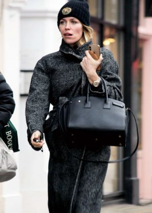 Abbey Clancy on the Kings Road in Chelsea