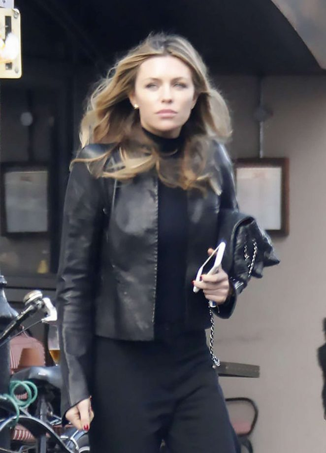 Abbey Clancy out and about in London