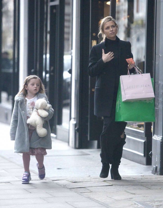 Abbey Clancy out in London -11