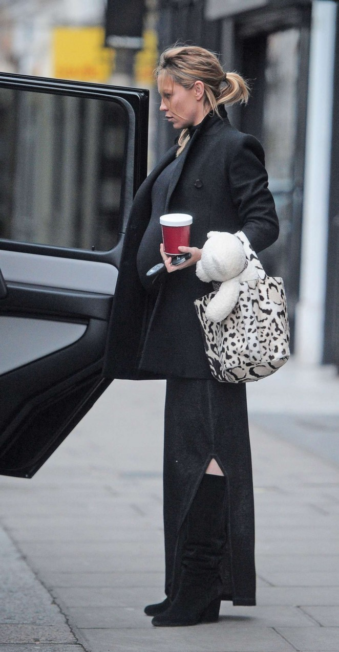 Abbey Clancy out in London -15