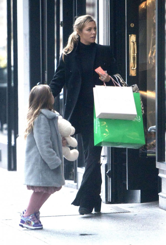 Abbey Clancy out in London -16